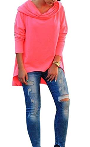 Pullover Top Solid Casual Felpe Workout Comodo Phelion Hood Rosa Womens wIqX8Z6