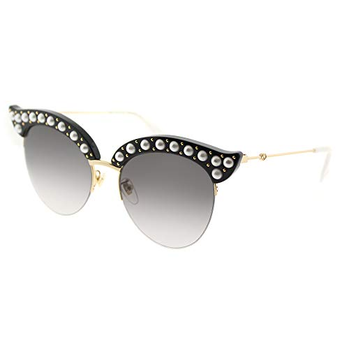 Gucci GG0212S Black/Grey One Size (Gucci Modell-nummer)