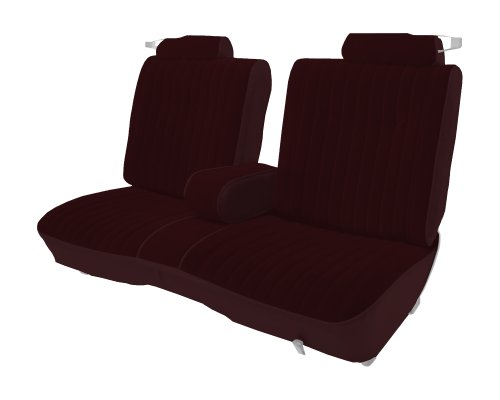 Acme U207-7T61 Front Claret Velour with Claret Vinyl Bench Seat Upholstery