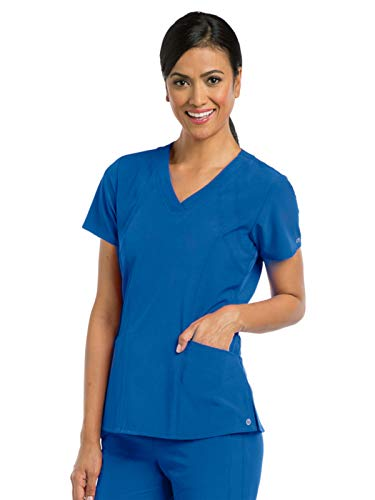 Barco One 5105 Women's V-Neck Top New Royal XS