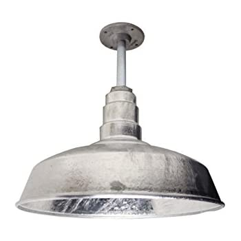 The 200 Watt ABBA Standard Galvanized 16 Inch Rigid Pendant Shade