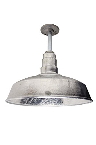 The 200 Watt ABBA Standard Galvanized 16 Inch Rigid Pendant Shade | American Made Pendant Shade | 16