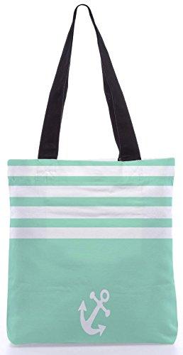 Snoogg Semplice Ancora 13.5 X 15 Pollici Shopping Bag Realizzato In Tela Di Poliestere
