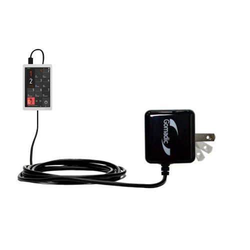 Gomadic High Output Home Wall AC Charger designed for the Cowon X9 with Power Sleep technology - Intelligently designed with Gomadic TipExchange by Gomadic