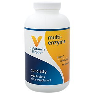 Multi Enzyme Helps Support The Digestion Absorption of Protein, Carbs Fat (600 Tablets) by The Vitamin Shoppe