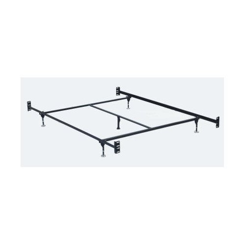 Hollywood Bed Frames Bed Frame with Headboard/Footboard Attachment/5 Legs and Adjustable Glides, -