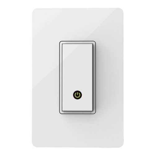 WeMo Light Switch, Wi-Fi Enabled, Compatible with Amazon Echo (Works with Amazon Alexa)