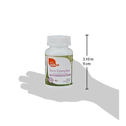 Zahlers Iron Blood Iron with on the Iron with C, Optimal Absorption, Kosher Iron Vitamins, 100