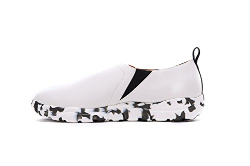 Uin Mens Ottawa Fasion In Microfibra Slip-on Walking Shoes Colore Bianco