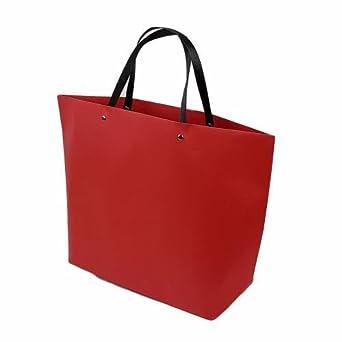 6 bolsas grandes papel Kraft rojo (28 x 11.5 x 41 cm - 6613 ...