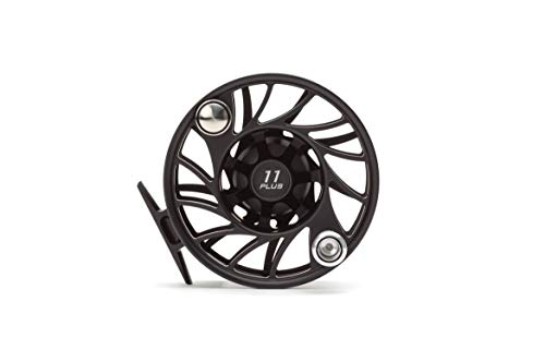 Hatch 11 Plus Gen 2 Finatic Fly Reel, Black/Silver, Mid Arbor