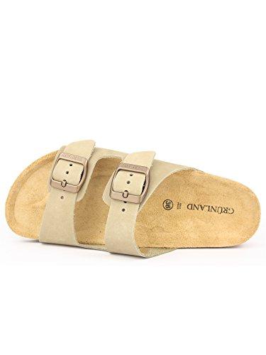 GRUNLAND - Sandalias de vestir para mujer Kaki