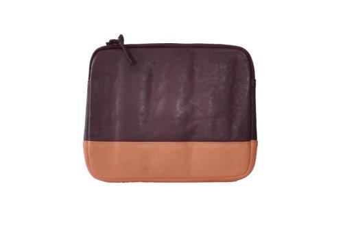 Cowboysbag Belfort 1278 fodera per iPad, fodera di pelle, borsa di pelle per iPad, bordeaux-corallo, 27x22x2 cm (L x A x P)