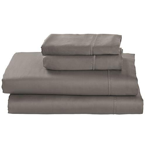 Stone & Beam Wrinkle-Resitant 100% Tencel Bed Sheet Set, Queen, Smoke
