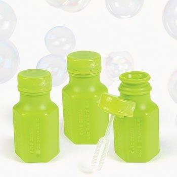 Fun Express Cool Fun Lime Green Hexagon Bubble Bottles, 0.3 (Green Bubbles)