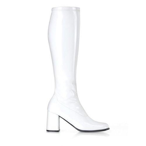 Funtasma GOGO-300 - Botas para mujer White Patent