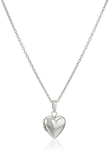 ae7b68bd8d2 Galleon - Children s And Baby Sterling Silver Polished Heart Locket Necklace