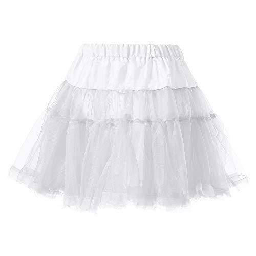 (iYBUIA Women's, Teen, Adult Classic Elastic Pleated Gauze Short Skirt Adult Tutu Dancing Skirt)