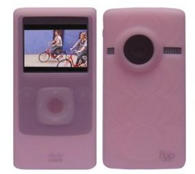 Pink Soft Silicone Skin Case for Flip Ultra HD Camcorder 8 GB, 2 Hours (3rd G...