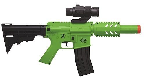 Crosman Undead Apocalypse Zombie Purge CQB Electronic Full-Auto Airsoft Rifle, Black/Green ()