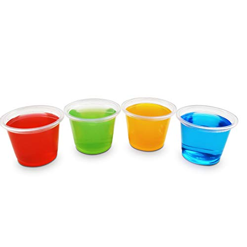 TashiBox Shot Glass 1oz Plastic Disposable Cups Without Lids - 100 Count]()