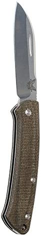 Benchmade – Proper 319 Knife, Sheepsfoot Blade, Plain Edge