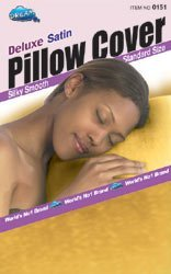 - Dream Deluxe Satin Pillow Case Cover Color: Black