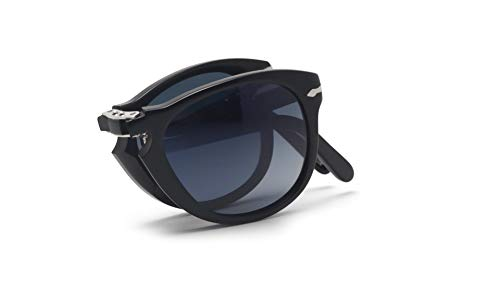 Persol Mens Sunglasses Black/Blue Acetate - Polarized - 54mm