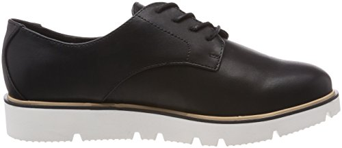 donna da Derbys Bianco Up Shoe Black 10 nero Laced wxBnHqYXCF