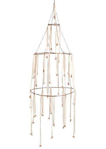 Ariana Ost Rose Gold and Dip Dyed Silk Hanging Rack Mobile and New Year Home Decor ()