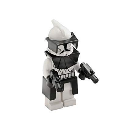 (LEGO STAR WARS MINI FIGURE - CLONE WARS - CLONE COMMANDER & BLASTERS)