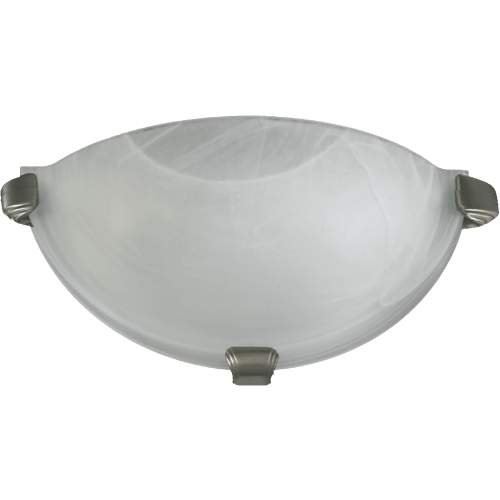 Quorum 1 Light Wall Light in Satin Nickel