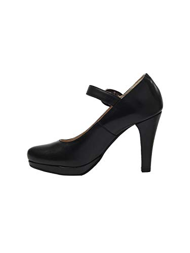 Para Lisa Mujer Negro De 6010schwarznappa Stockerpoint Vestir Zapatos Piel S66Wgq