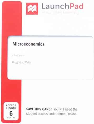 LaunchPad for Microeconomics (Six-Month Access)