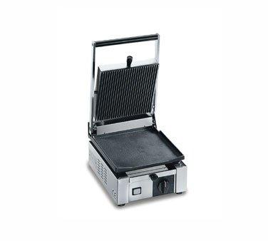 Eurodib ELIO-110 Mini Cast Iron Panini Grill - 10''Wx17''Dx11''H