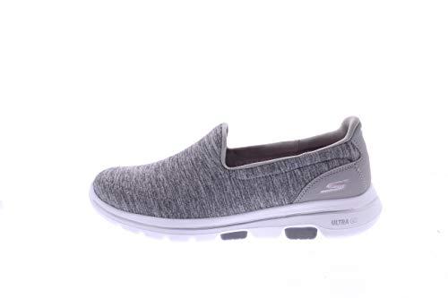 Skechers Women's GO Walk 5 - Honor Shoe, Gray, 8 M US
