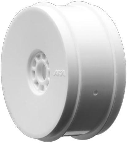 AKA Products 14013SRW Racing Buggy Gridiron II Soft Evo Wheel Pre-Mounted White Tire, Scale 1:8 [並行輸入品]