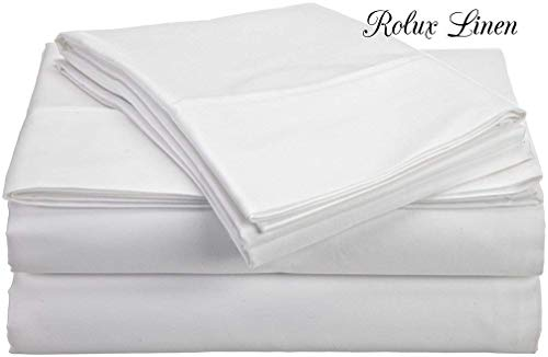 Top Selling on Amazon Split-Queen Adjustable Queen Bed Sheets Luxury Soft 550-TC Egyptian Cotton 5-Piece Sheets Set with Fully Elastic Fitted Sheet Fits 10-12