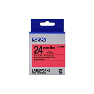 Epson Labelling Tape 24 mm Black on Red