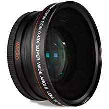 HDStars 58MM 0.43x Wide Angle Conversion Lens with Macro Clo