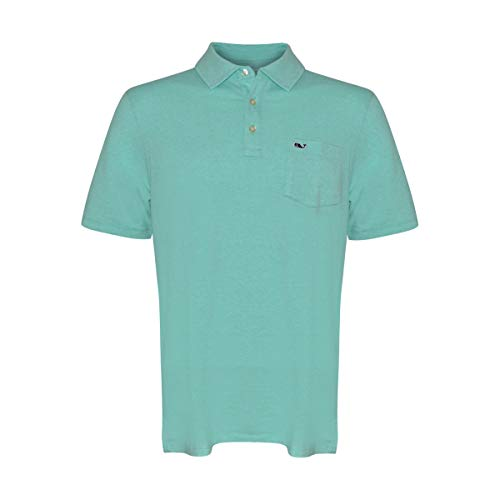 Vineyard Vines Men's Edgartown Short Sleeve Polo Shirt (Capri Blue, XS) from Vineyard Vines