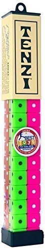 TENZI Dice Party Game - A Fun, Fast Frenzy for All Ages - 4 Sets of 10 Colored Dice (Colors May Vary) ()