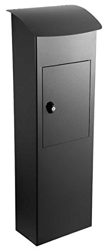 (Qualarc WF-PB007 ParcelSentry Freestanding Locking Parcel Drop Box, Black)