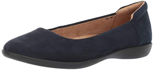 Naturalizer Women's Flexy Ballet Flat Navy 8 M US
