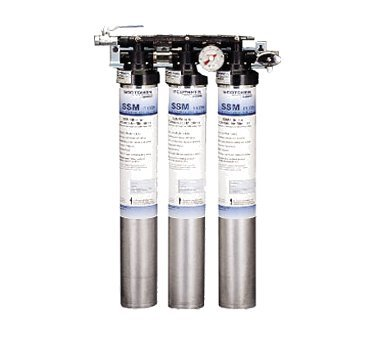 Triple Filter Water Filtration System f/ Ice & Beverage Dispensers - Beverage System Cleaners