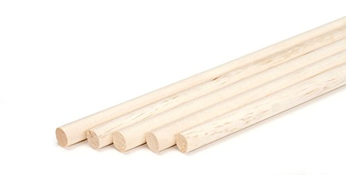 (Darice 9162-05 Dowels Rods, Unfinished Wood, 3/8 x 12 inch (5 Pieces))