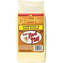 Bob's Red Mill - Gluten Free Garbanzo & Fava Flour (4-22 OZ) - Perfect for All Kinds of Baking