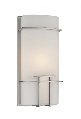- George Kovacs P465-084, ADA 1-Light Wall Sconce, Brushed Nickel