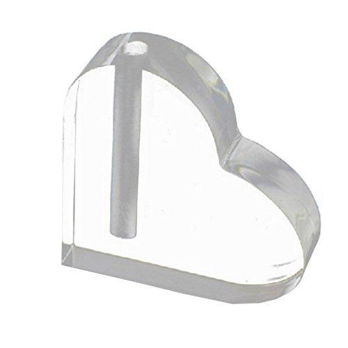 DeFaith® Acrylic Heart Base Vase for Gold Foil (Roses Vases)