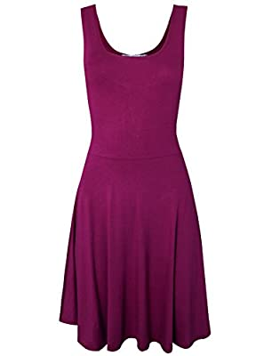 Tom's Ware Women Trendy Slim Fit Sleeveless Flare Mini Dress